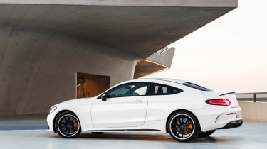 Mercedes-AMG C 63 S Coupe - white rear
