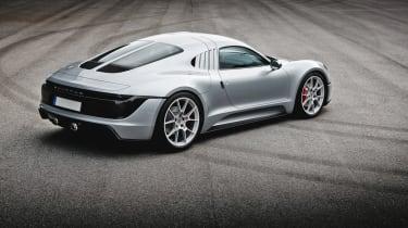 Porsche unseen mid-engined concept - rear quarter