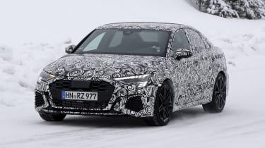 Audi RS3 mule 2020 saloon – front