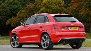 Audi RS Q3 red rear