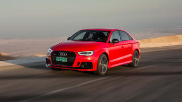 Audi RS3 Saloon Red front 1