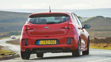 Kia Ceed GT five-door red rear