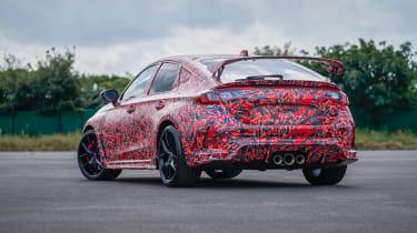 2022 Honda Civic Type R prototype – rear