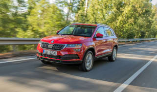 Skoda Karoq (red) - front driving