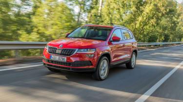 Skoda Karoq (red) - front driving