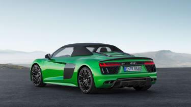 Audi R8 Plus Spyder - rear roof up