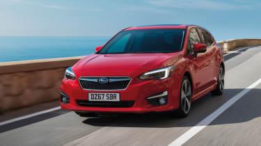Subaru Impreza Hatch - front driving shot