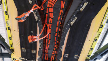 Mercedes SLS AMG Electric Drive's substantial wiring harness
