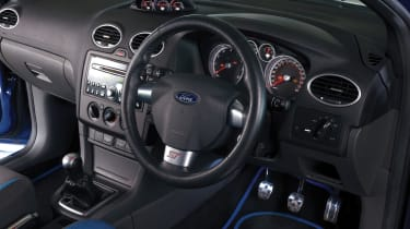 Ford Focus ST interior and steering wheel