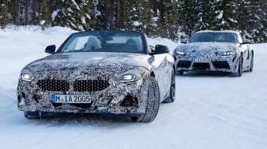 BMW Z4 mule - front
