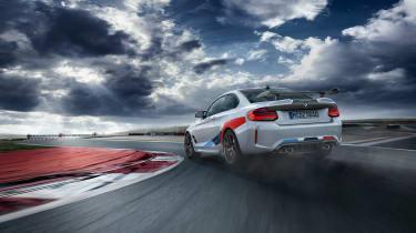 BMW M2 Competition M performance Parts – rear quarter