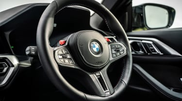BMW M4 Competition 2021 review – steering wheel