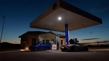 McLaren 720S in Italy - fuel