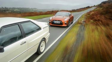 GT-R vs Quattro - road