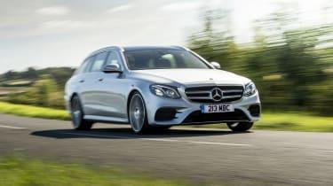 Mercedes E400d Estate review - front quarter