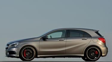 2013 Mercedes A45 AMG matt grey side profile