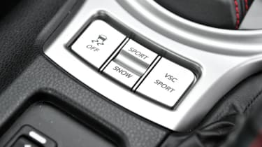 Subaru BRZ group test traction control modes
