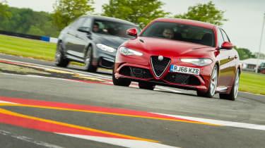BMW M3 Competition Package & Alfa Romeo Giulia Quadrifoglio – on track