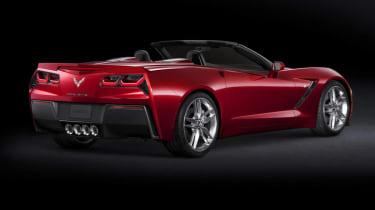 Corvette Stingray rear red convertible