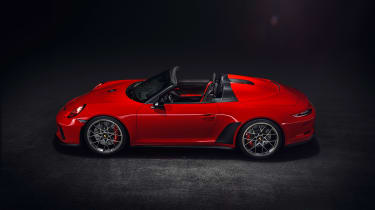 911 speedster production car side