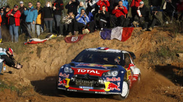 Sebastien Loeb Citroen DS3 rally car