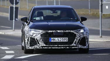 Audi RS3 mule 2021 - nose