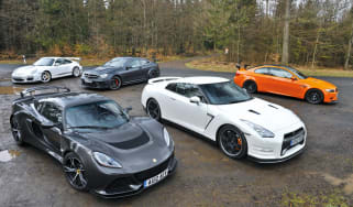 Lotus Exige S V6 Nurburgring group test