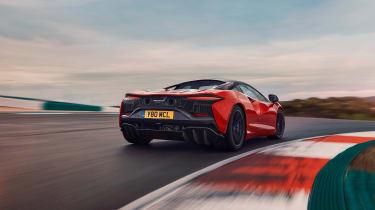 McLaren Artura revealed - orange rear tracking
