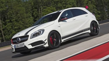 2013 Mercedes A45 AMG Edition 1 white front