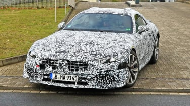 Mercedes SL spy - front quarter