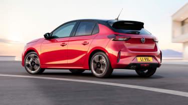 New Vauxhall Corsa rear three quarters
