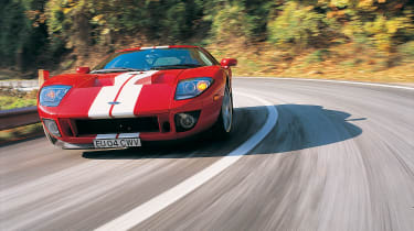 Ford GT Colorado Red - front driving shot 2