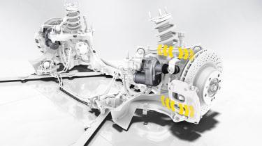 Porsche 911 front axle