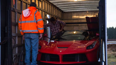 evo archive – LaFerrari truck extraction – Henry squeezing in