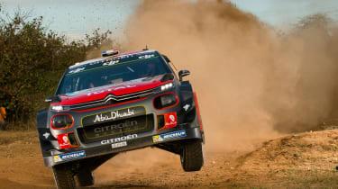 WRC Rally Catalunya - C3 airborne