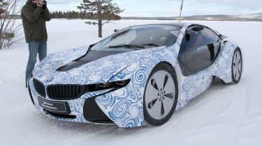 BMW i8 hybrid supercar spy pictures