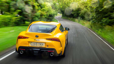 Toyota GR Supra review FF - rear tracking