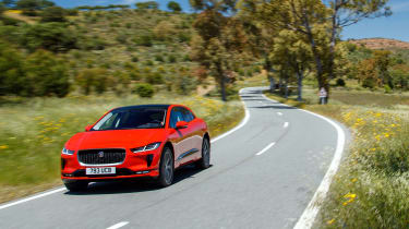 Jaguar I-Pace driving - front tracking