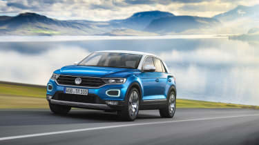 VW T-Roc - Blue front quarter