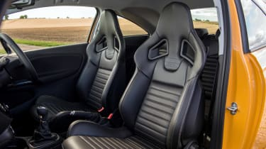 Vauxhall Corsa GSi review - seats