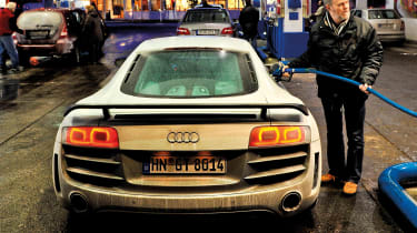 Audi R8 GT in Germany - fuelling