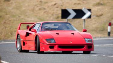 Ferrari F40 sideways