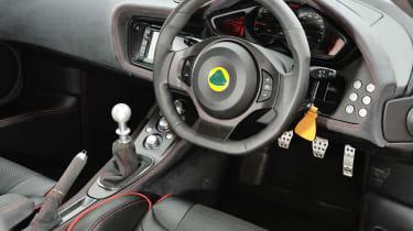 Lotus Evora S Sports Racer interior dashboard