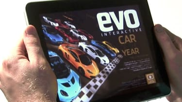 evo magazine iPad edition