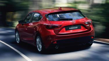 New Mazda 3 red rear