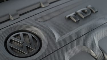 Volkswagen Golf engine detail