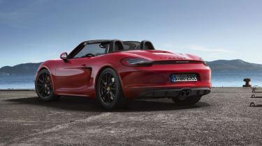 Porsche Boxster GTS  roof open