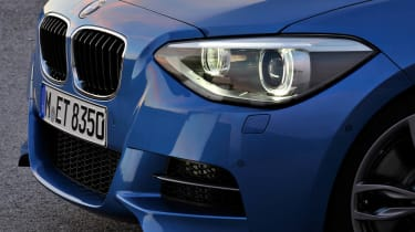 2012 BMW M135i front headlight grille