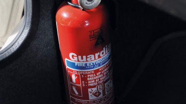 MG Metro 6R4 Clubman fire extinguisher