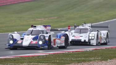 Anthony Davidson driving the Toyota WEC car
